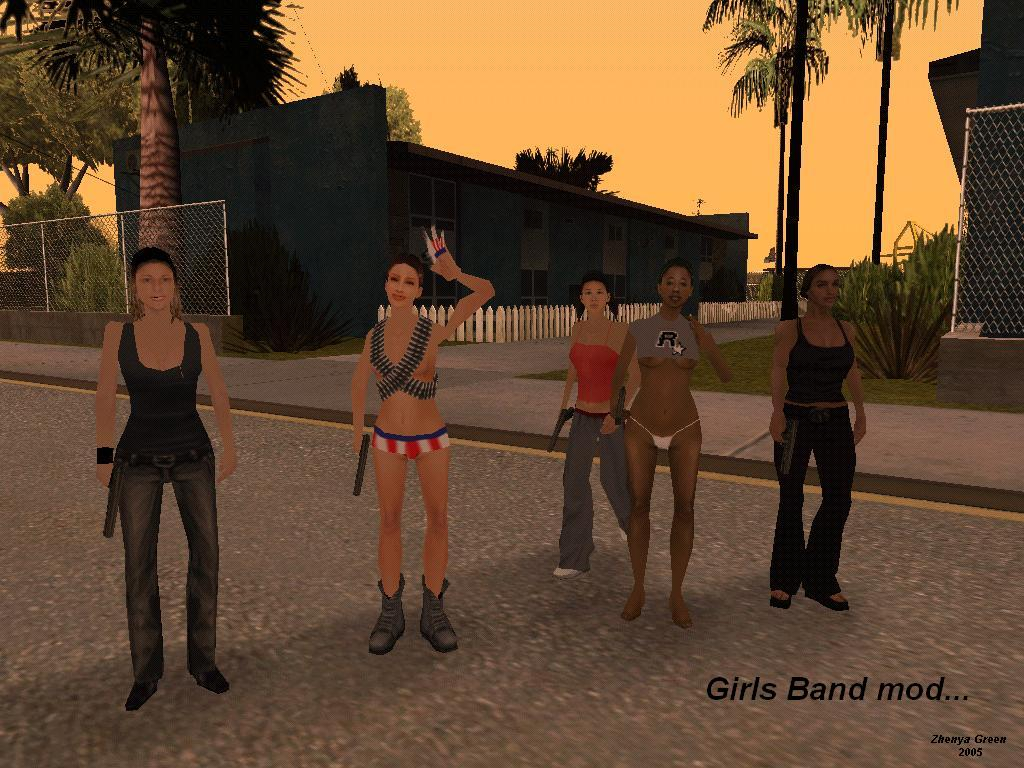 мод на голых девушек ГТА Сан Андреас